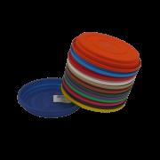 Prato plástico para vaso - colorido - 07 cm - kit 24 unid