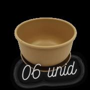 Cuia com prato - areia - 09 x 15 cm kit 6 unid