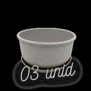 Cuia com prato - granito - 09 x 15 cm kit 3 unid