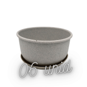 Cuia com prato - granito - 09 x 15 cm kit 6 unid