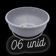 Cuia com prato - granito - 12 x 24 cm - kit 06 unid