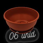 Cuia com prato - marrom - 12 x 24 cm - kit 06 unid
