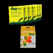 Dimy pel - kit 06 caixas 20 gr + enxofre 30 gr