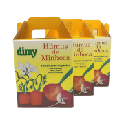Humus de minhoca - dimy - kit 3 x 1 kg