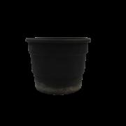 kit 36 Vasos plásticos - Pretos - 16 x 21 cm
