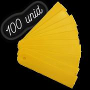 Plaquinha identificação amarela para plantas - 100 unidades
