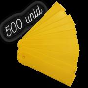 Plaquinha identificação amarela para plantas - 500 unidades