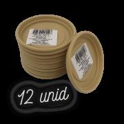 Prato plástico para vaso - areia - 07 cm - kit 12 unid