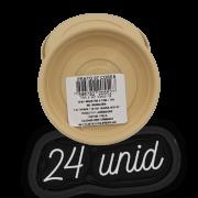 Prato plástico para vaso - areia - 07 cm - kit 24 unid