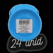 Prato plástico para vaso - azul - 07 cm - kit 24 unid