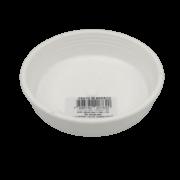 Prato plástico para vaso - branco - 09  cm