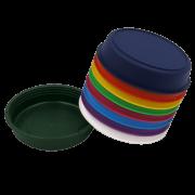 Prato plástico para vaso - colorido - 09  cm