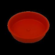 Prato plástico para vaso - laranja - 09  cm