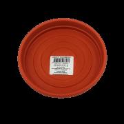 Prato plástico para vaso - laranja - 13 cm