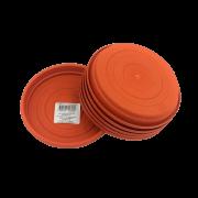 Prato plástico para vaso - laranja - 13 cm - kit 06 unid