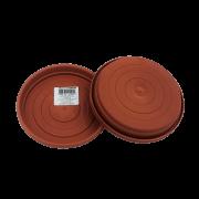 Prato plástico para vaso - marrom - 13 cm - kit 03 unid