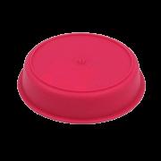 Prato plástico para vaso - rosa - 09  cm