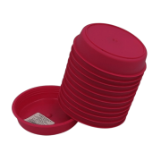 Prato plástico para vaso - rosa - 09 cm - kit 12 unid