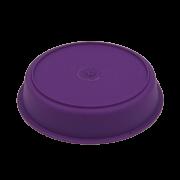 Prato plástico para vaso - roxo - 09  cm