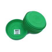 Prato plástico para vaso - verde - 13 cm - kit 06 unid