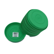 Prato plástico para vaso - verde - 13 cm - kit 12 unid
