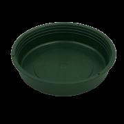 Prato plástico para vaso - verde escuro - 09  cm