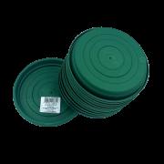 Prato plástico para vaso - verde escuro - 13 cm - kit 12 unid