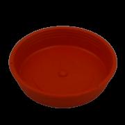 Prato plástico para vaso - vermelho - 09  cm