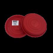 Prato plástico para vaso - vermelho - 13 cm - kit 03 unid