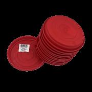 Prato plástico para vaso - vermelho - 13 cm - kit 12 unid