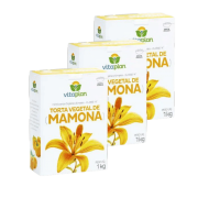 Torta mamona -  Vitaplan - kit 3 caixas 1 kg