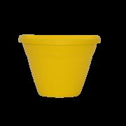 Vaso de parede - amarelo - 11 x 15 cm