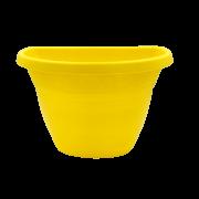 Vaso de parede - amarelo - 17 x 23 cm