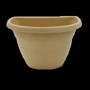 Vaso de parede - areia - 17 x 23 cm