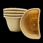Vaso de parede - areia - 17 X 23 cm - Kit 05 un