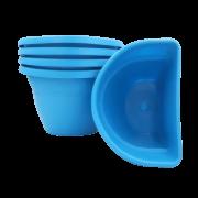 Vaso de parede - azul -17 x 23 cm - Kit 05 un