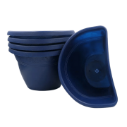 Vaso de parede - azul marinho -17 x 23 cm - Kit 05 un