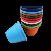Vaso de parede - kit colorido - 11 x 15 cm - 10 unidades