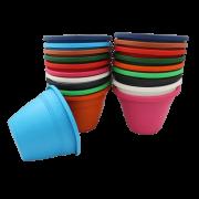 Vaso de parede - kit colorido - 11 x 15 cm - 30 unidades