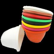 Vaso de parede - kit colorido - 17 X 23 cm - 03 unidades