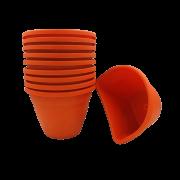 Vaso de parede - laranja - 11 x 15 cm - Kit 10 un