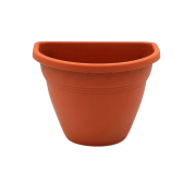 Vaso de parede - marrom - 11 x 15 cm - Kit 08 unid