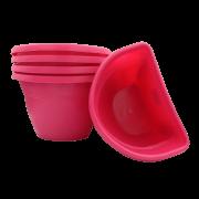 Vaso de parede - rosa - 17 x 23 cm - Kit 05 un