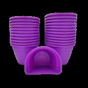 Vaso de parede - roxo - 11 x 15 cm - Kit 24 unid