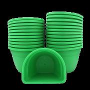 Vaso de parede - verde - 11 x 15 cm - Kit 24 un