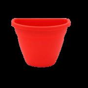 Vaso de parede - vermelho - 11 x 15 cm