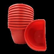 Vaso de parede - vermelho - 17 x 23 cm - Kit 10 un
