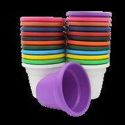Vaso plástico - kit colorido - 08 x 10 cm - 100 unidades