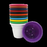 Vaso plástico - kit colorido - 08 x 10 cm - 15 unidades