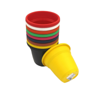 Vaso plástico - kit colorido - 10 x 13 cm - 12 unidades
